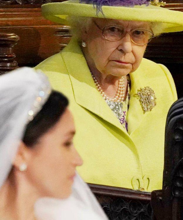 Foto: La reina Isabel y Meghan Markle. (Getty)