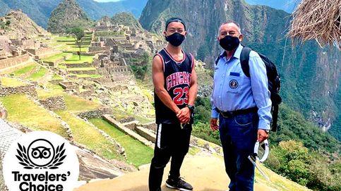 Un japonés visita el Machu Pichu tras 7 meses confinado en Perú por covid-19