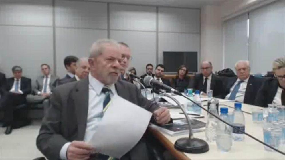 Foto: Captura del video cedido por la Justicia Federal de Brasil, del expresidente Luiz Inácio Lula da Silva durante su declaración ante el juez federal Sergio Moro. (EFE)