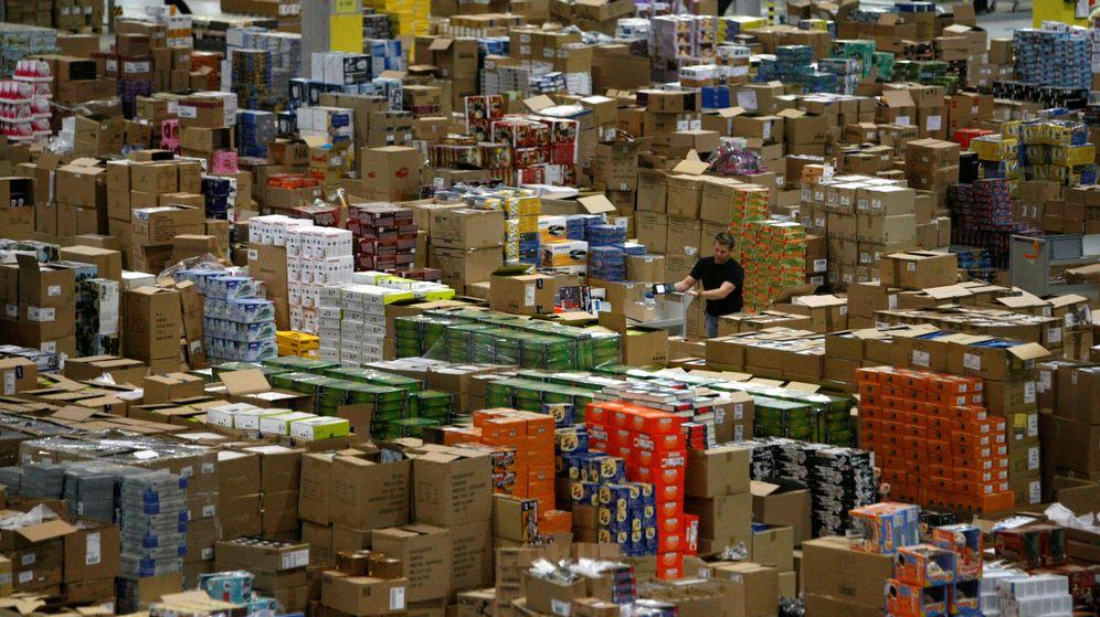 Foto: Imagen de archivo de un almacén de Amazon en Leipzig, Alemania (Reuters)