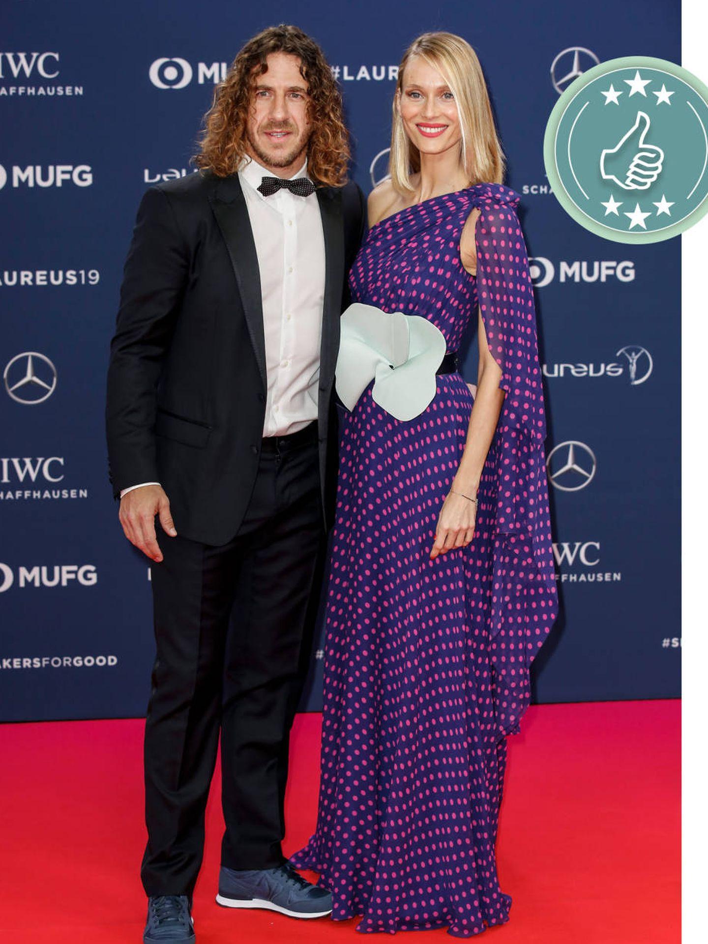 Carles Puyol y Vanesa Lorenzo. (Cordon Press)