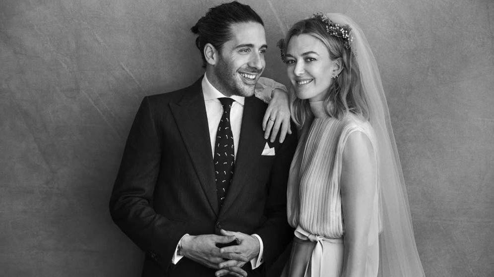 Foto: Carlos Torretta y Marta Ortega, en su boda. (Peter Lindbergh)