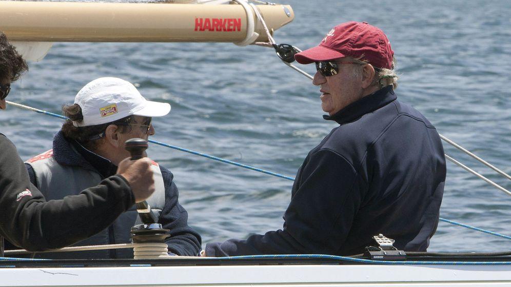 Foto: El Rey Juan Carlos, en la regata (EFE)
