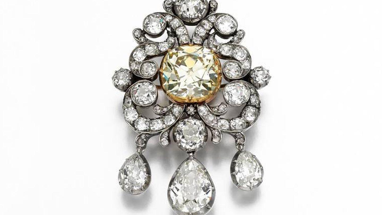 Un broche de diamantes. (Sotheby's)