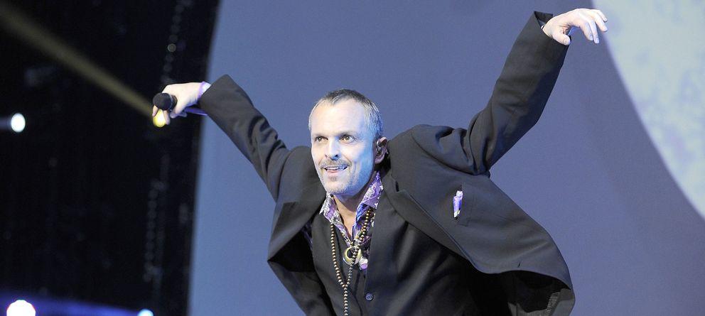 Foto: Miguel Bosé en uno de sus conciertos (Gtres)