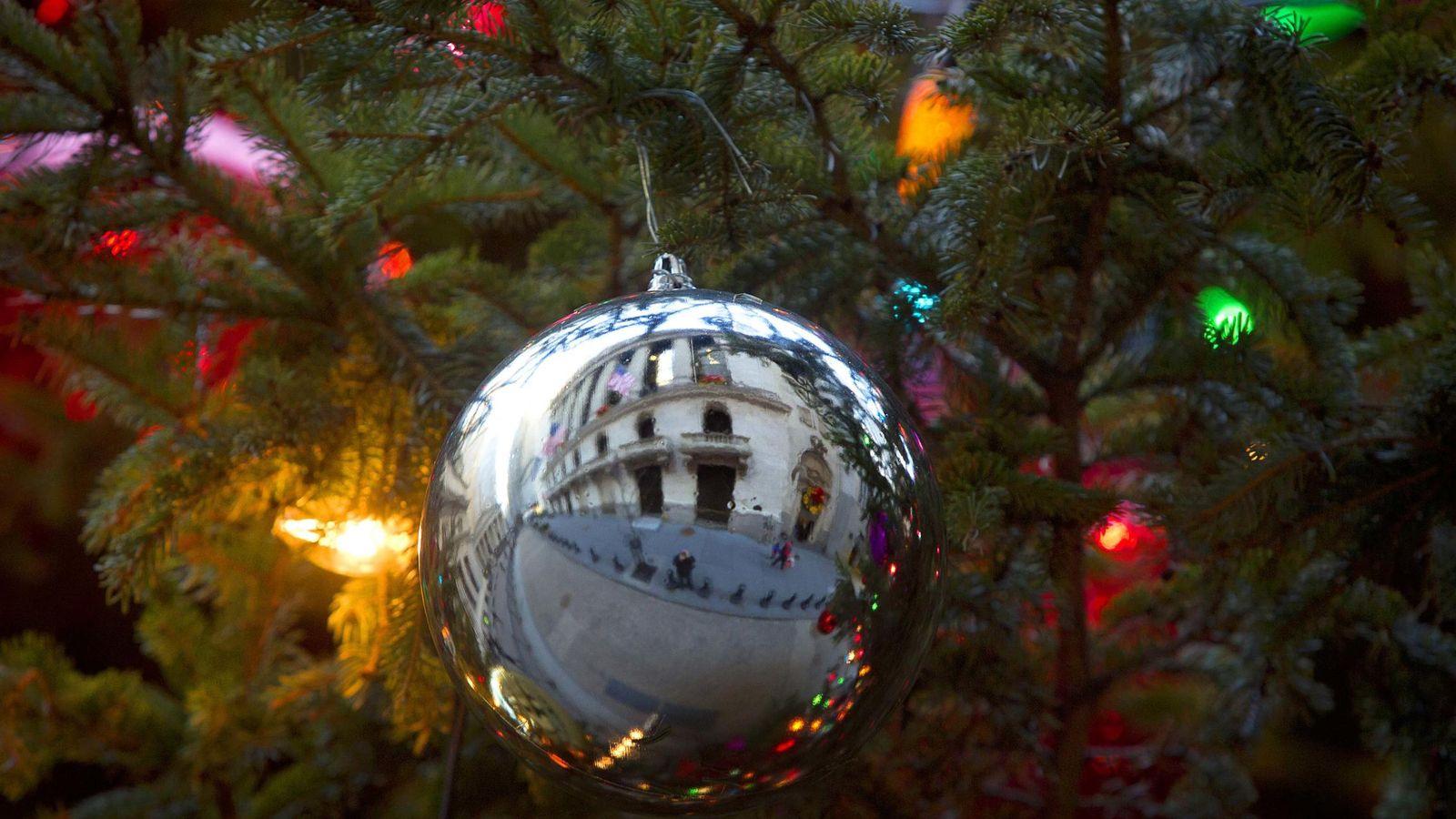 Foto: La Navidad en Wall Street. (Reuters)