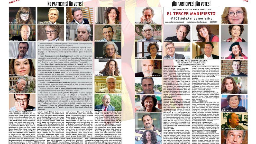 Foto: Primer manifiesto publicado a doble página en 'El País'