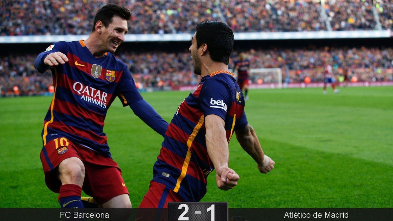 Foto: Messi y Suárez siempre aparecen en los días decisivos (Reuters).