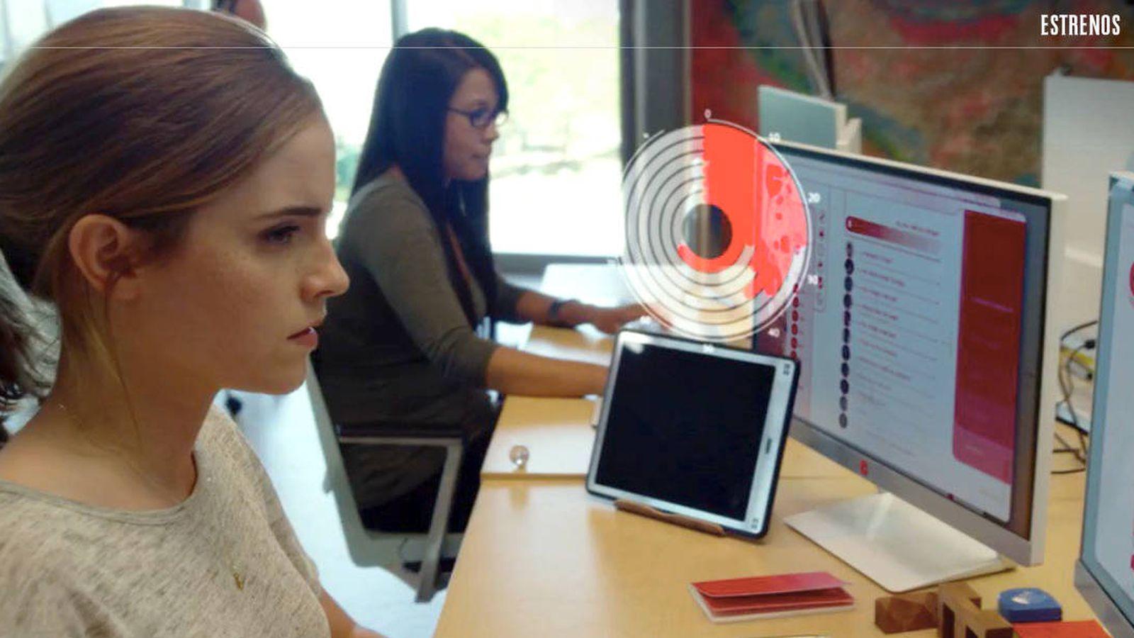Foto: Emma Watson, en un fotograma de 'El círculo'.