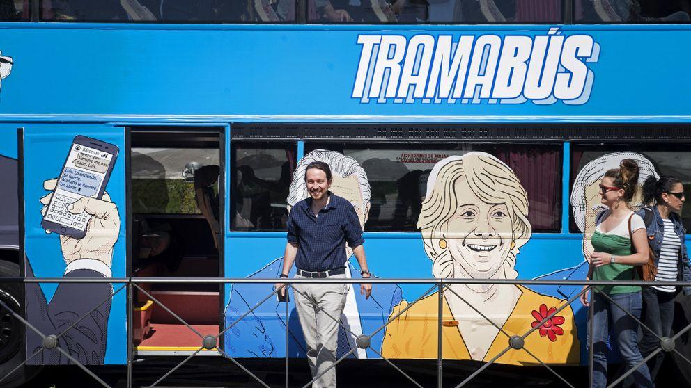 Podemos suspende la ruta del 'tramabús' por problemas técnicos del vehículo