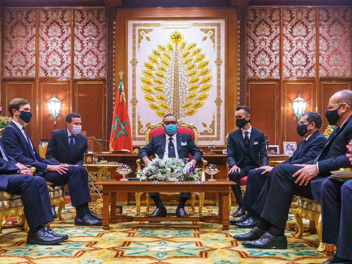 Foto: El rey de Marruecos, Mohamed VI, recibió el 22 de diciembre a una delegación norteamericano-israelí días después de cancelar la cumbre con España, prevista para el 17 de diciembre. (MAP)