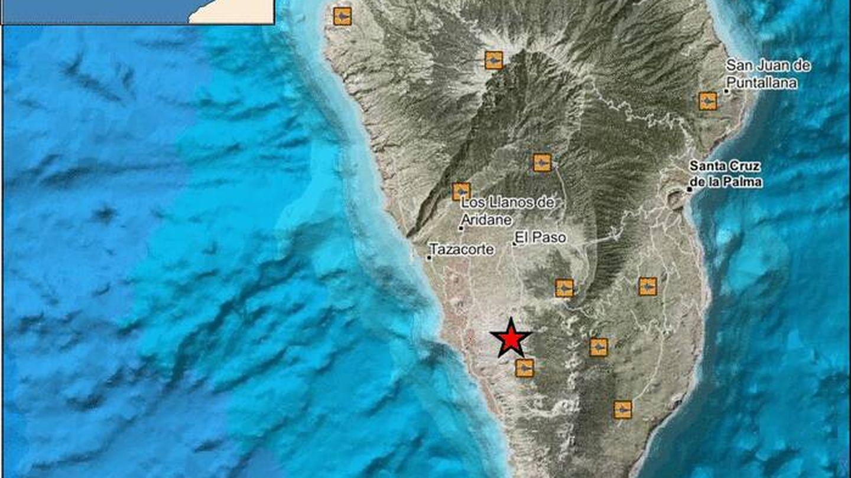 Epicentro del principal terremoto de esta noche. (IGN)