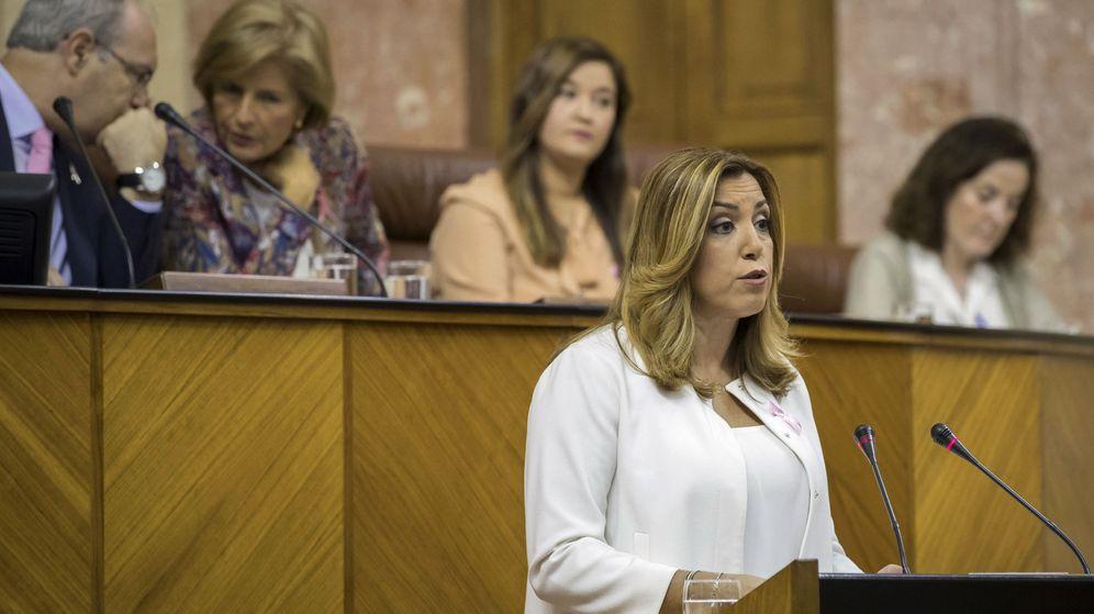 Foto: La presidenta andaluza, Susana Díaz, en el Parlamento regional. (EFE)