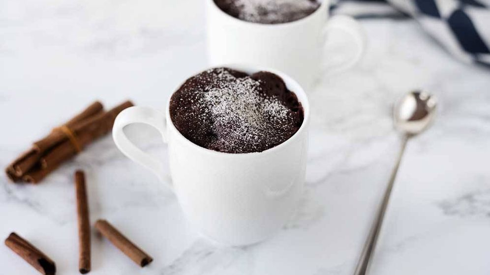 Foto: Mug cake de cacao. (Snaps Fotografía)