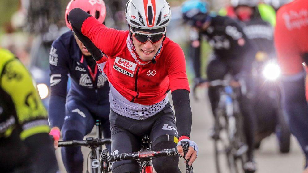 Foto: Lambrecht durante el Tour de Polonia. (EFE)