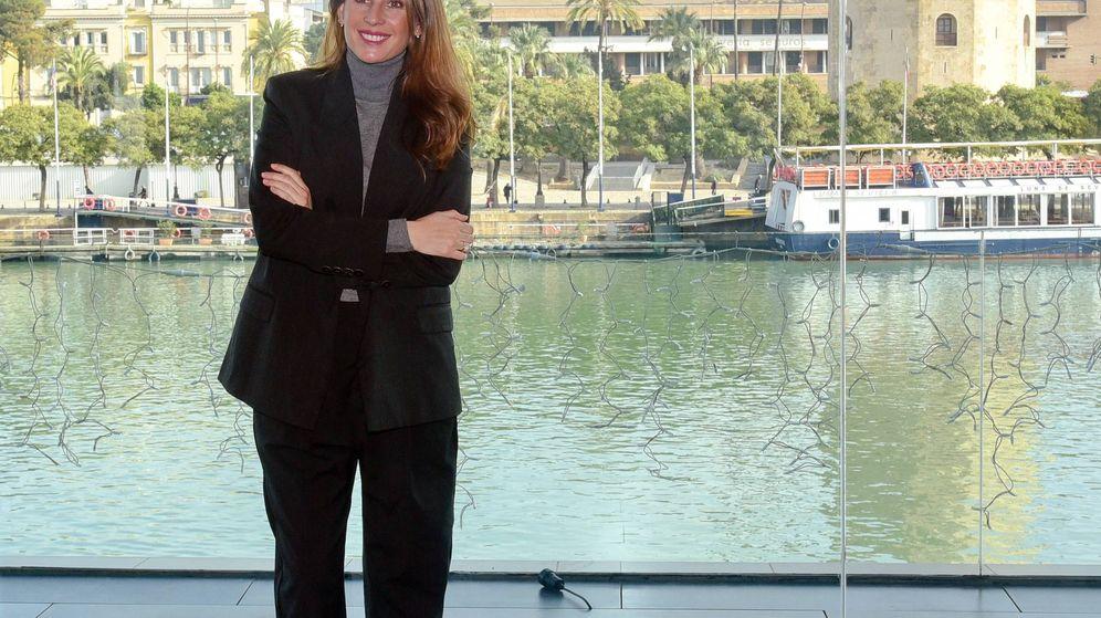 Foto: Lourdes Montes, en un evento de la Fundación Vicente Ferrer y Silbon en Sevilla. (Cordon Press)