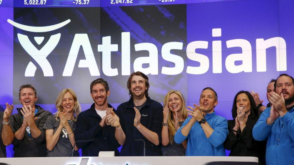 Foto: Scott Farquhar, el día que Atlassian comenzó a cotizar en el Nasdaq
