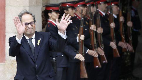 La élite catalana tuvo que ir al Parlament en helicóptero; hoy podría ir en pelotas