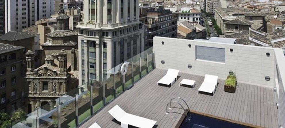 Las 10 mejores terrazas con piscina en hoteles espa oles for Terrazas zaragoza