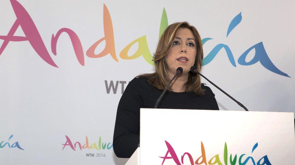 Foto: La presidenta de la Junta de Andalucía, Susana Díaz, en Londres el pasado 7 de noviembre. (EFE)
