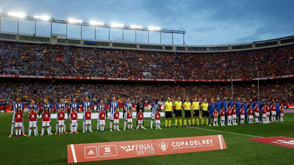 La Copa culé menos celebrada dejó más de 6.000 huecos en el adiós al Calderón