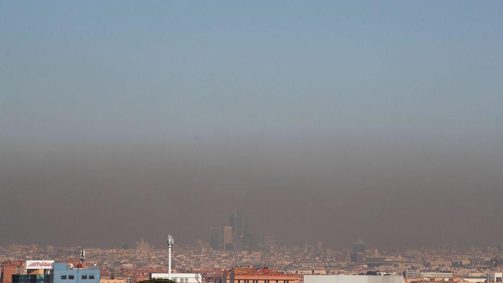 Foto: Contaminación en Madrid este jueves. (EFE)