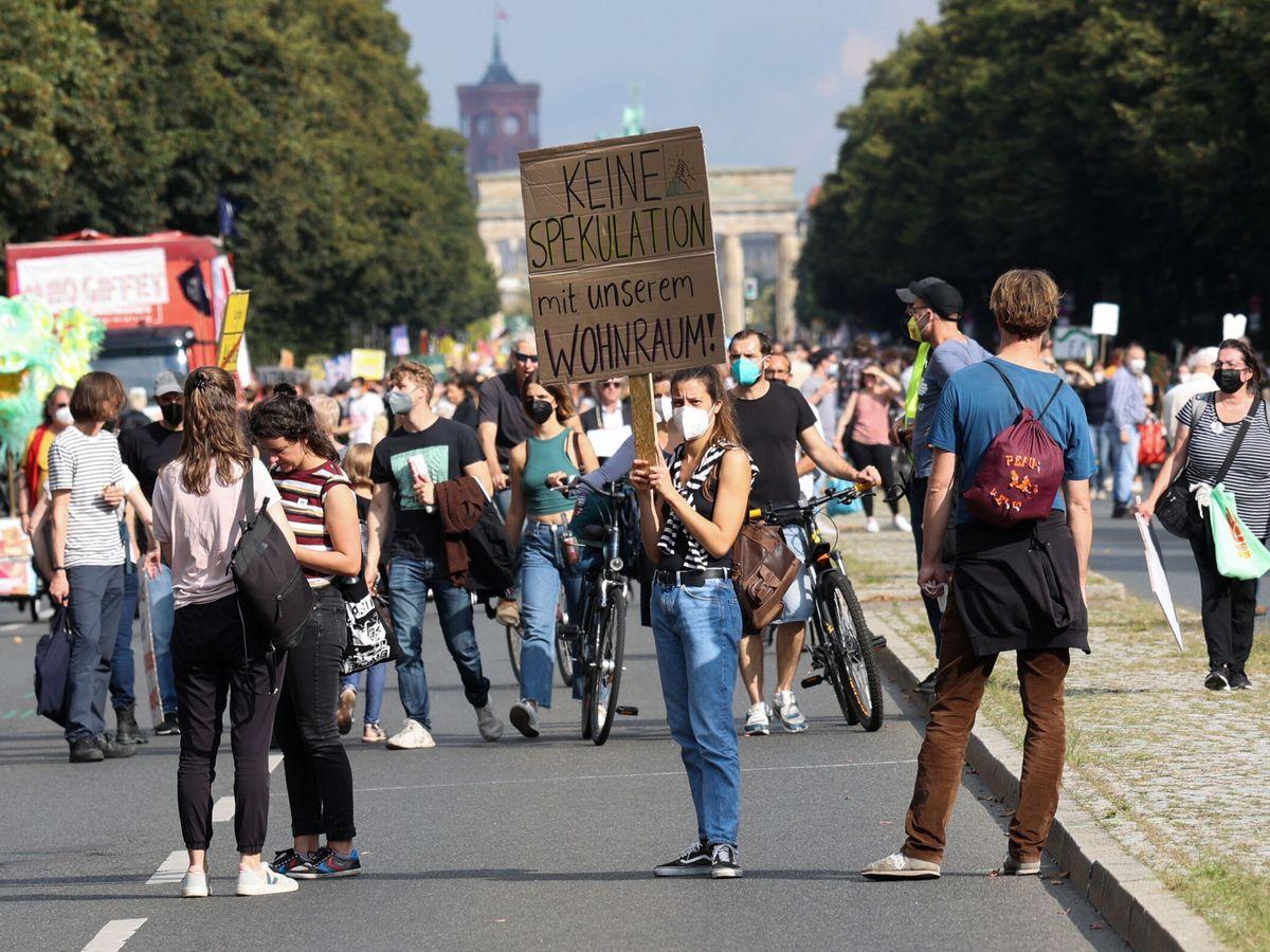 Foto: Una manifestación contra los precios del alquiler en Berlín (Alemania) este septiembre. (Reuters)