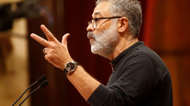 El diputado de la CUP Carles Riera, en el Parlament. (EFE)