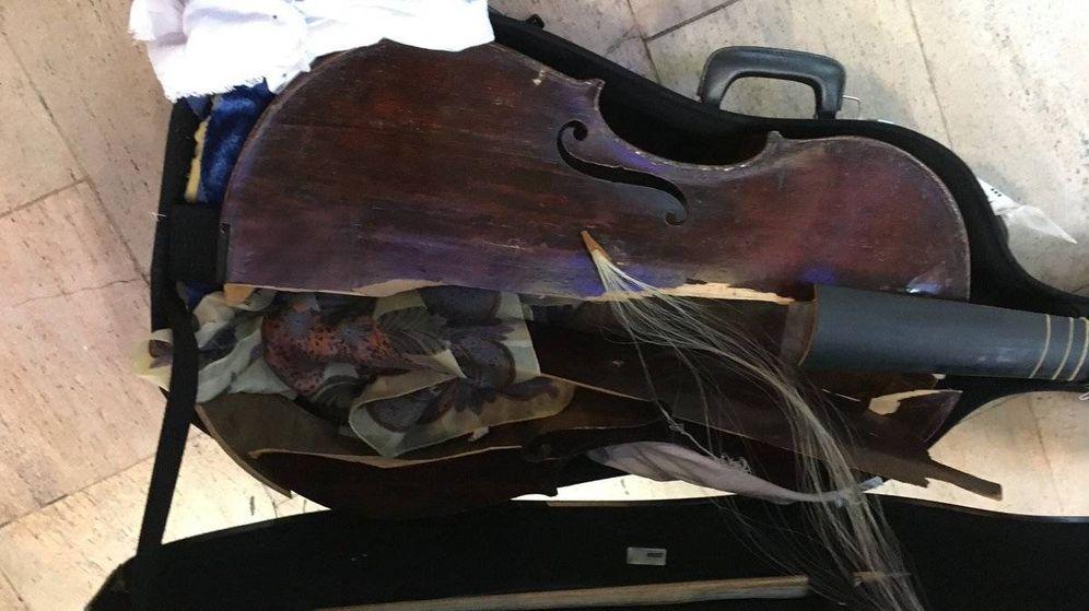 Foto: Así ha quedado la viola da gamba del siglo XVII (Myrna Herzog)