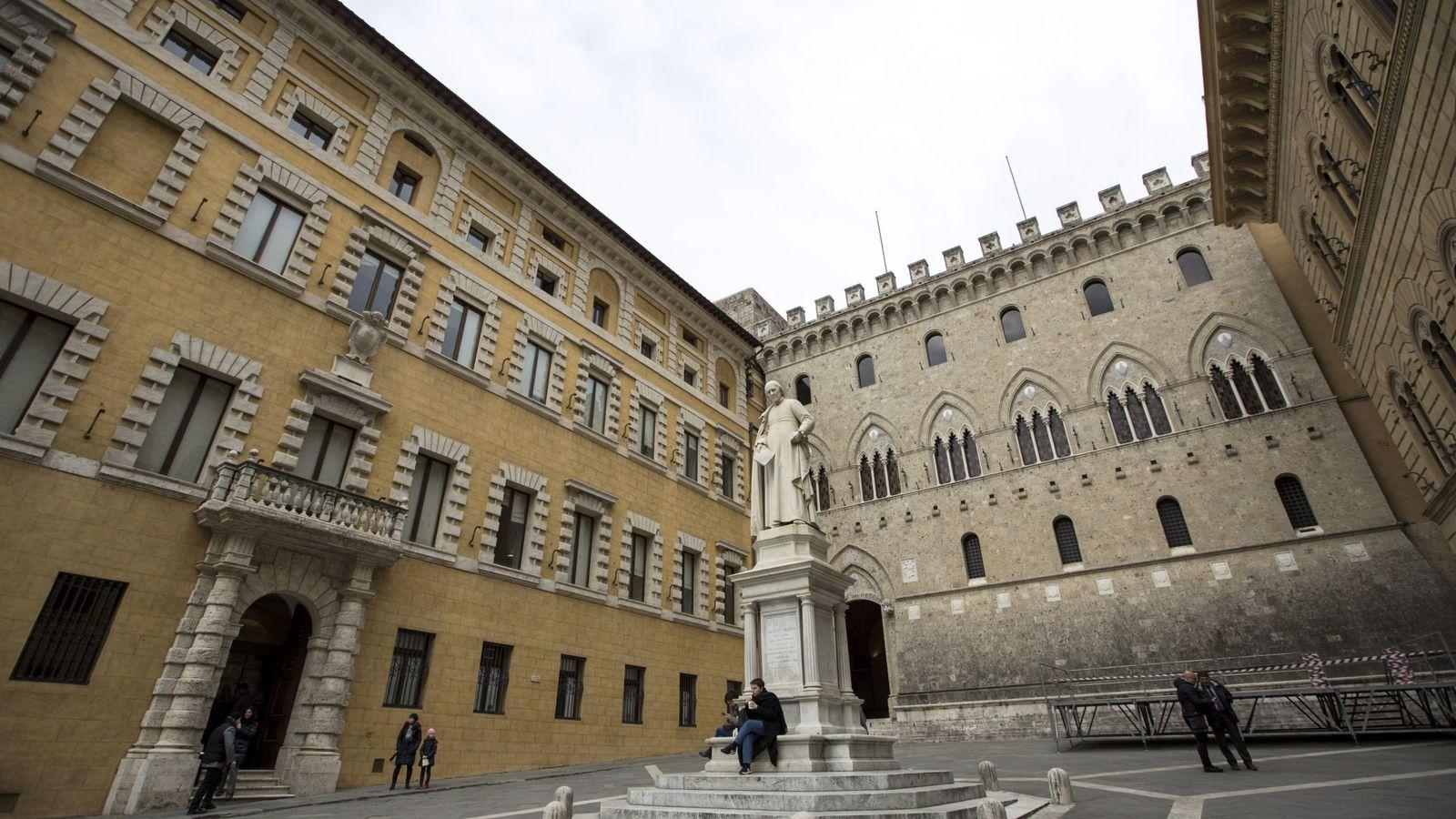 Foto: Fachada de la sede de la italiana Banca Monte dei Paschi di Siena