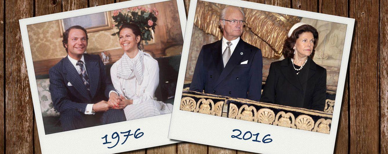 Foto: Los reyes de Suecia en un montaje realizado por Vanitatis