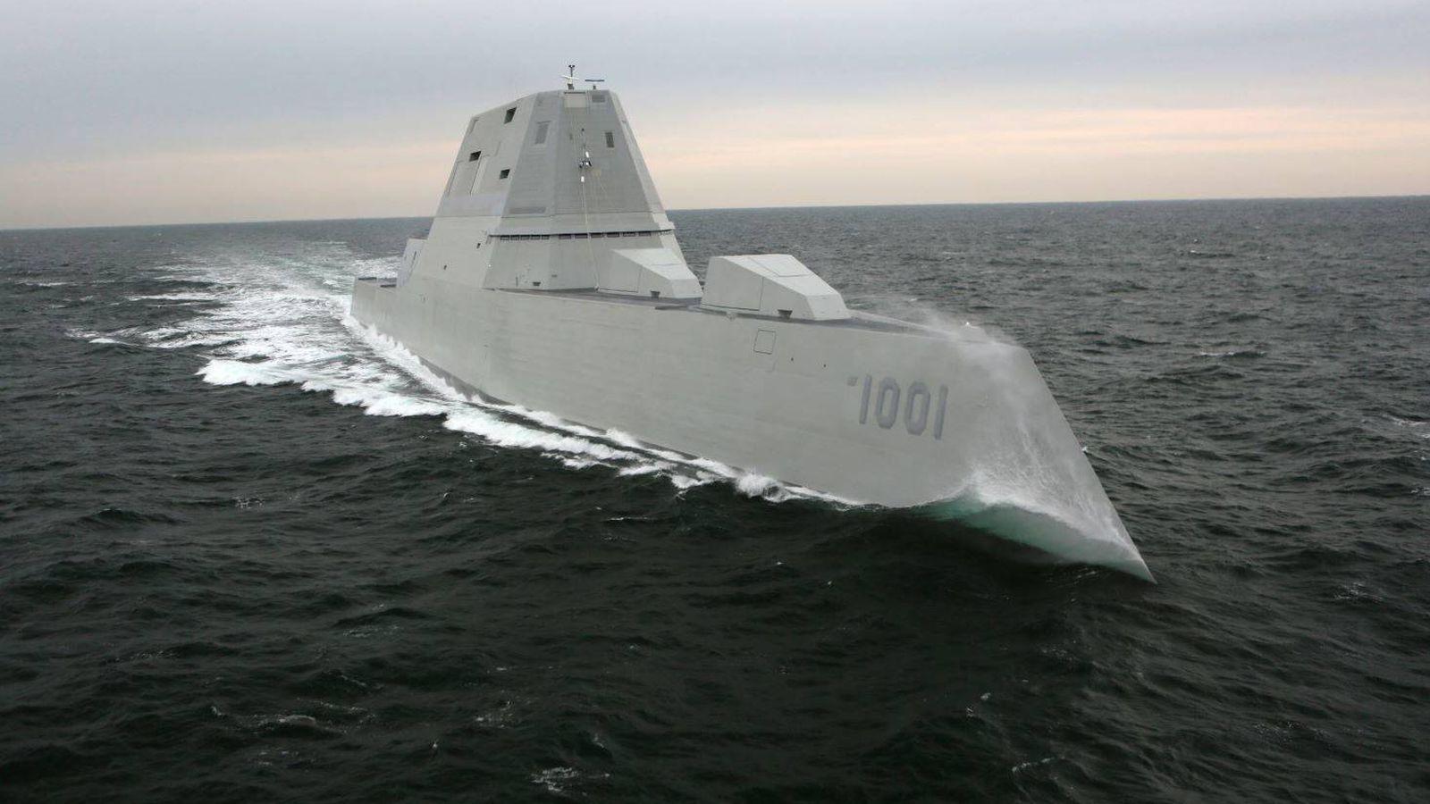 Foto: USS Michael A. Monsoor, segunda unidad de la clase Zumwalt. (US Navy)
