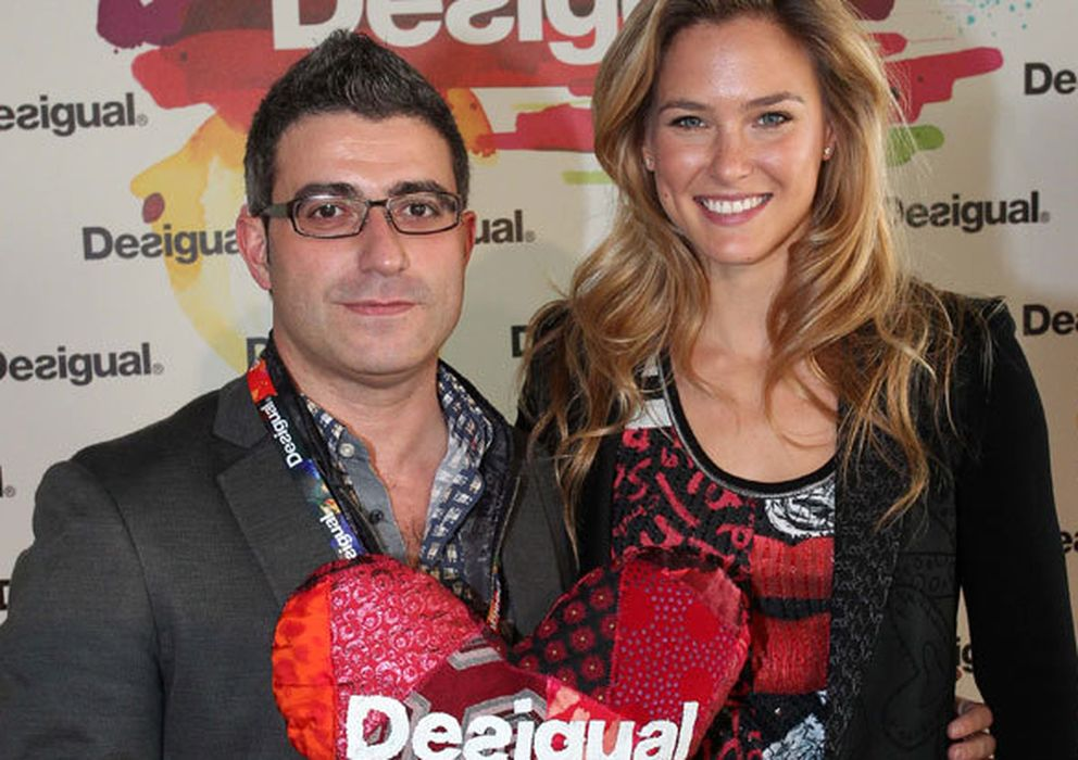 Foto:  Manuel Jadraque con Bar Refaeli.