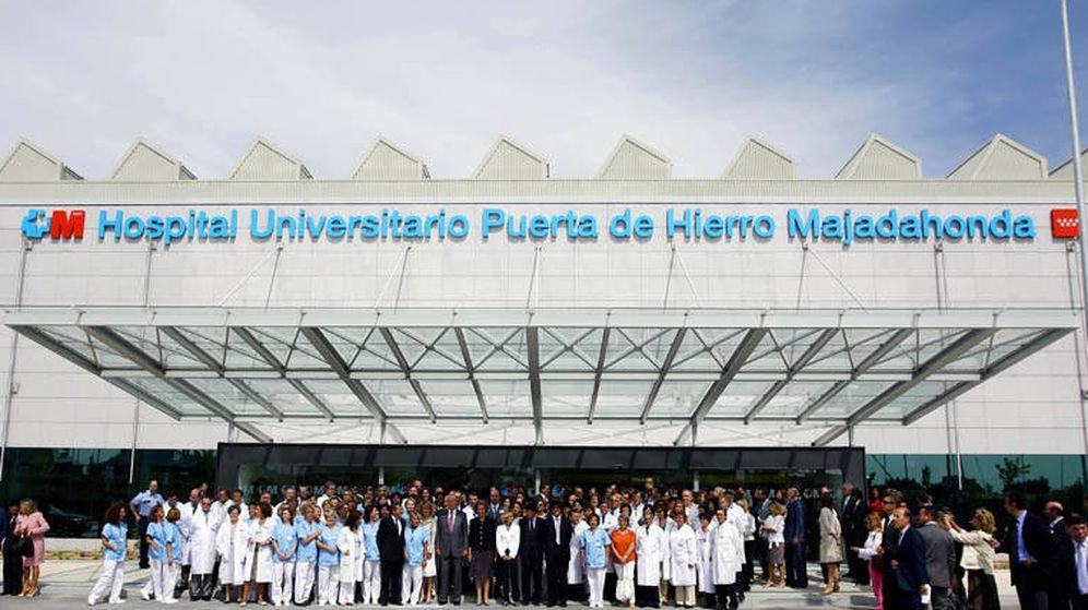 Foto: Acto de inauguración del Hospital Puerta de Hierro, en Majadahonda.