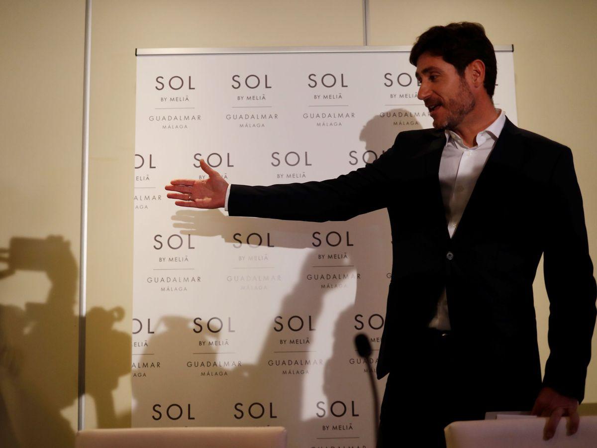 Foto: Victor Sánchez del Amo en su comparecencia ante la prensa en el hotel Sol Melia Guadalmar de Málaga. (Efe)