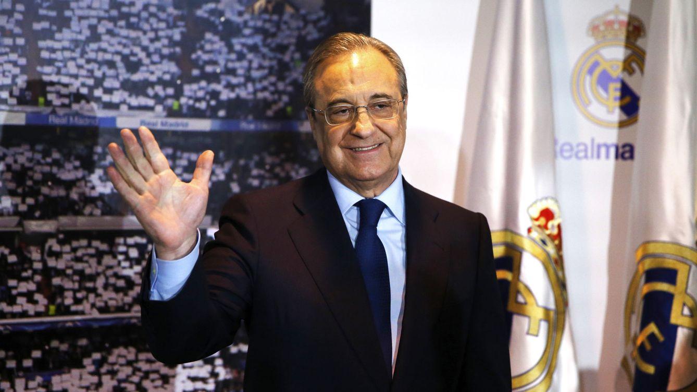 Foto: Florentino Pérez, tras ser proclamado presidente del Real Madrid. (EFE)