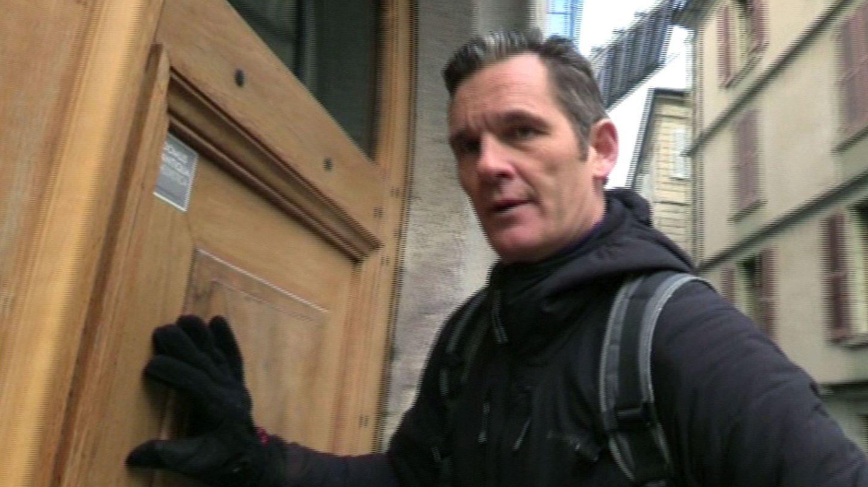 Iñaki Urdangarin, en marzo a la entrada de su domicilio en Ginebra.