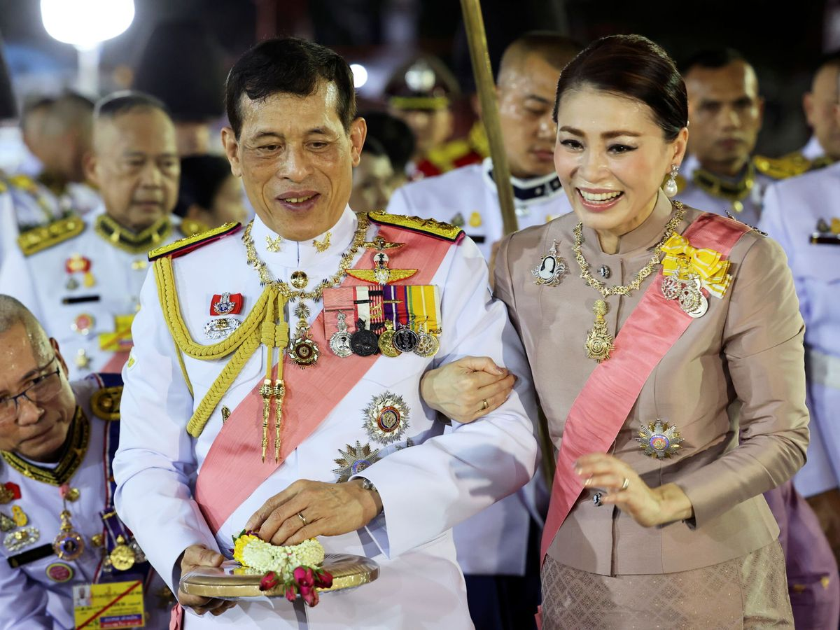 Foto: El rey y la reina de Tailandia. (Reuters)