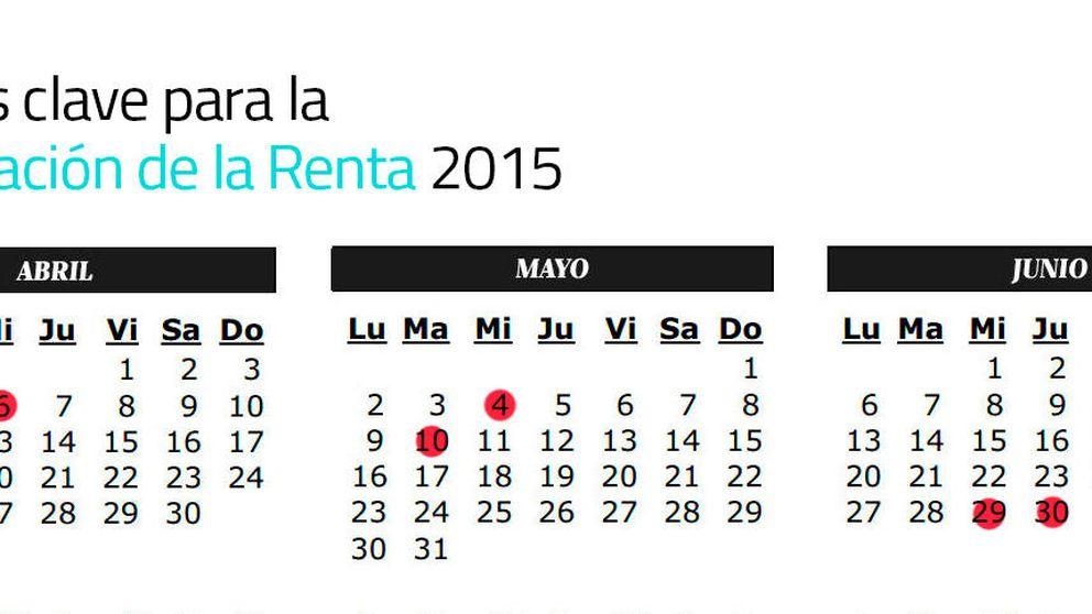 Fechas clave para la Declaración de la Renta 2015: calendario de la campaña