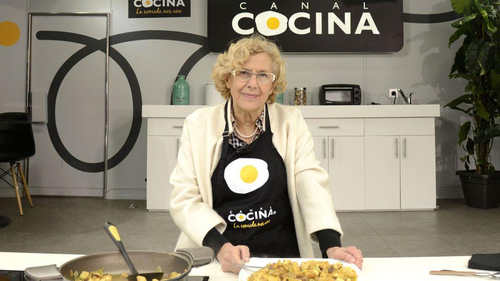Manuela Carmena salta a la televisión para demostrar sus dotes culinarias