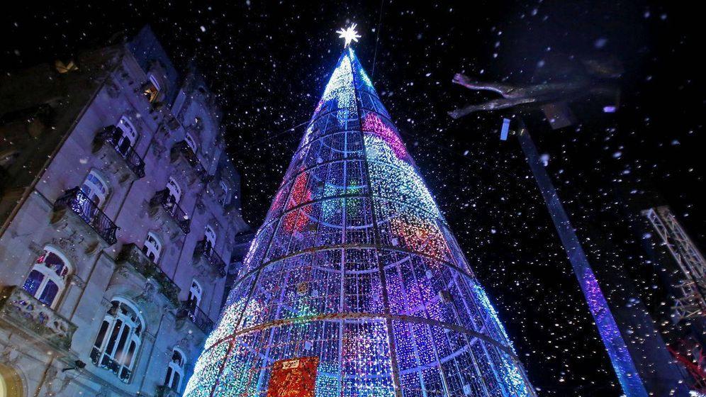 Foto: Las luces de Navidad de Vigo fueron las más llamativas del pasado 2018 (Foto: Facebook/Turismo de Vigo)