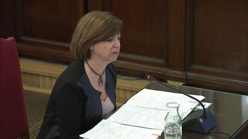 Foto: Captura de la señal institucional del Tribunal Supremo de la exconsejera de Gobernación Meritxell Borràs en el juicio del 'procés'. (EFE)