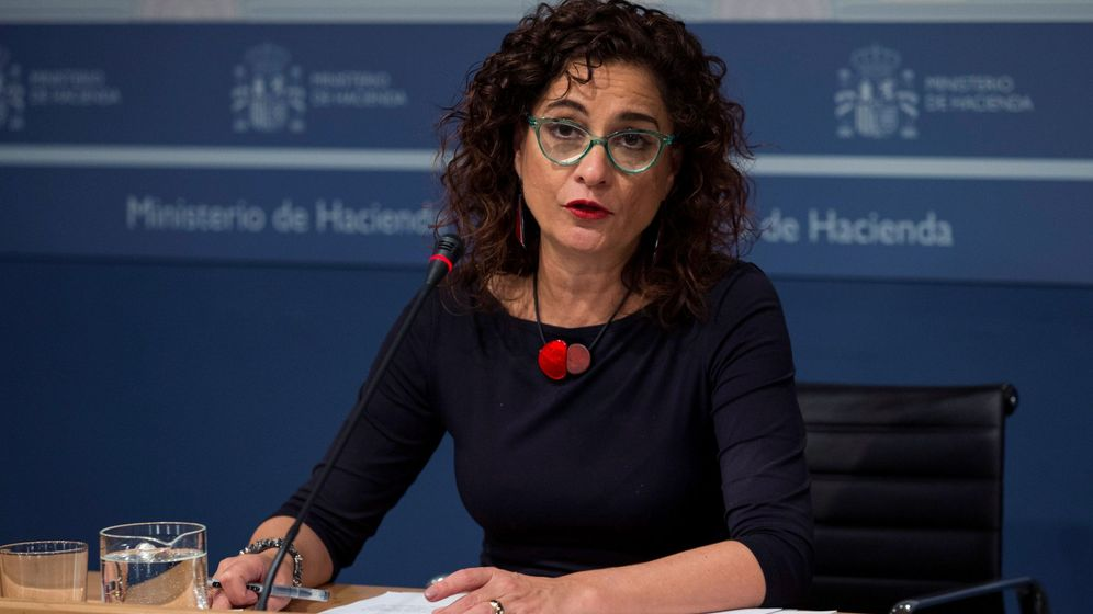 Foto: María Jesús Montero en rueda de prensa. EFE