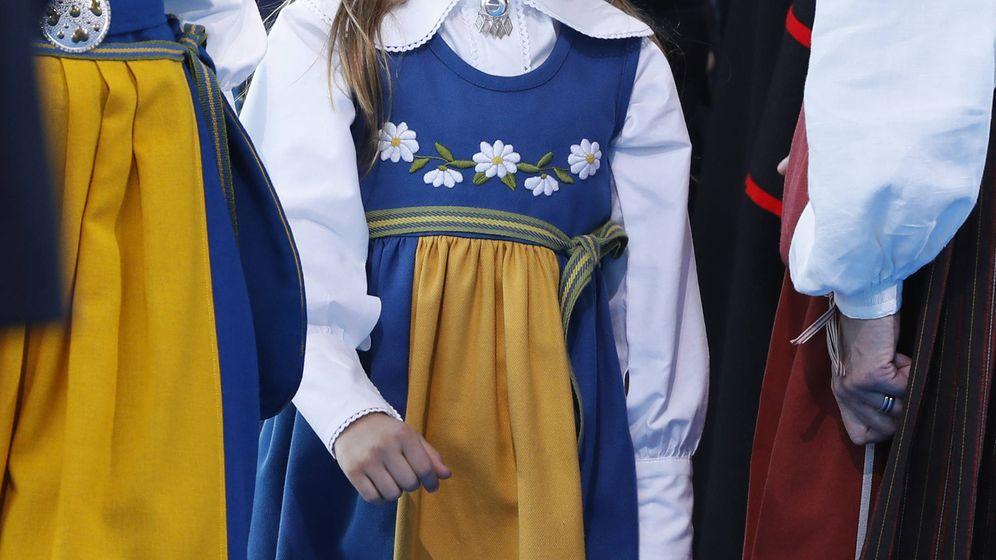 Foto: La princesa Estelle, en las celebraciones del Día Nacional de Suecia. (Getty)