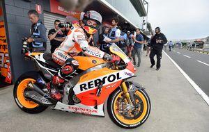 El campeón Márquez sigue con ganas de divertirse con otra pole