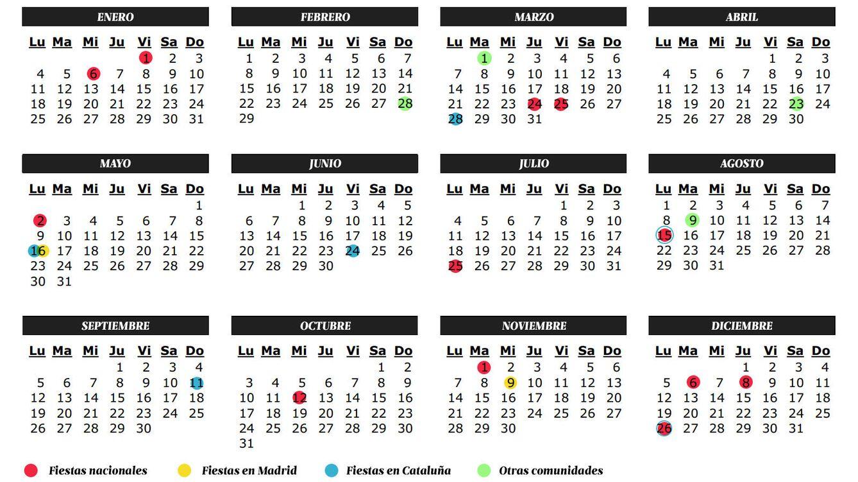 Foto: El calendario laboral para 2016. (Daniel Muñoz)