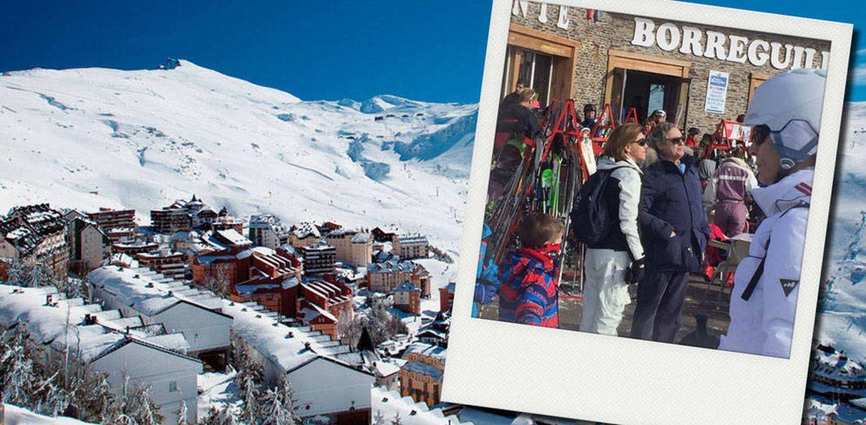 Así disfruta Cospedal con su marido en la nieve de Sierra Nevada