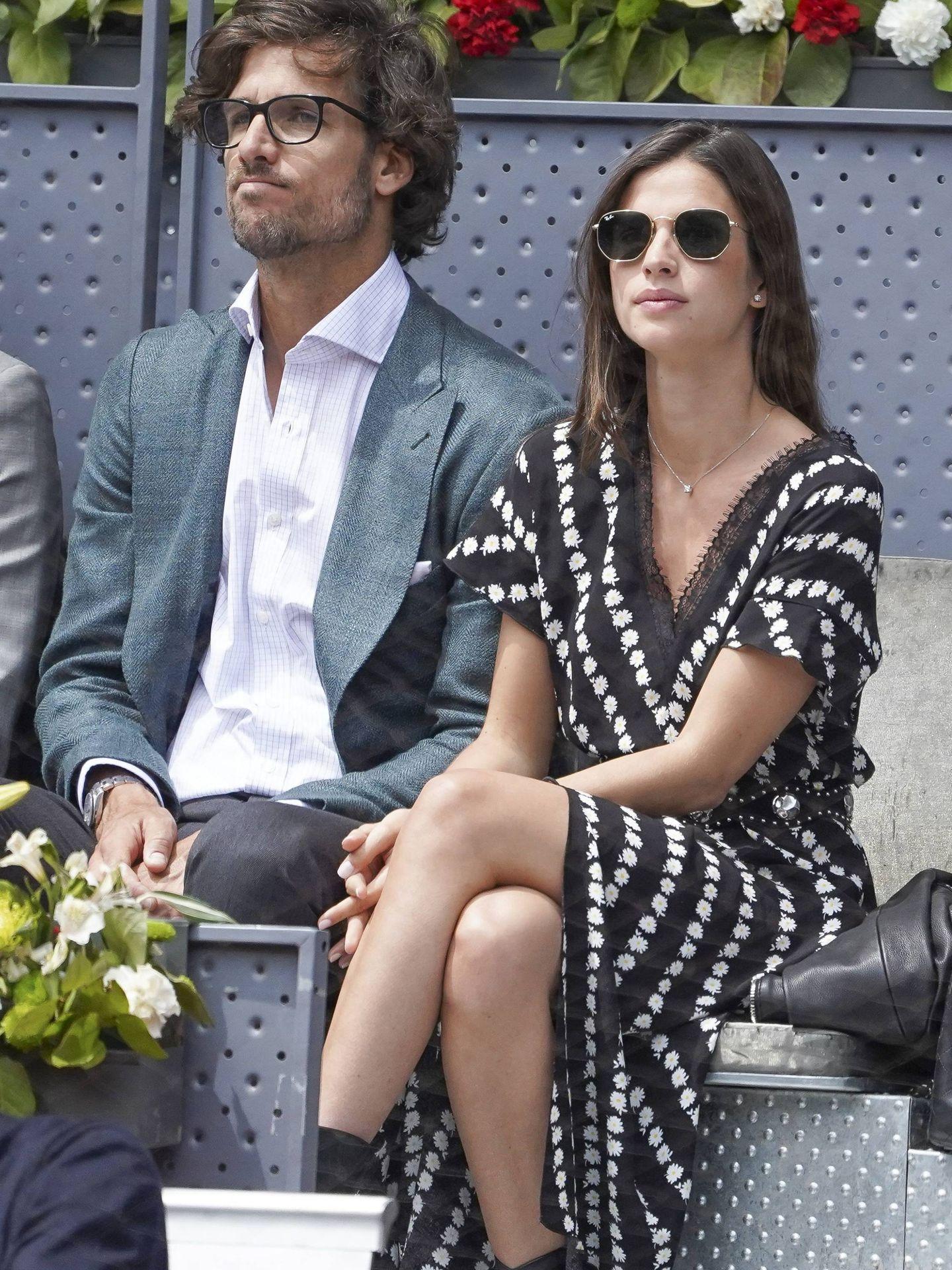 Feliciano y Sandra, en el Open Mutua Madrid de este año. (Cordon Press)