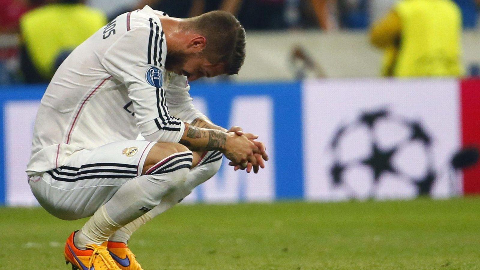 Foto: Sergio Ramos durante un partido de la temporada pasada (Efe).