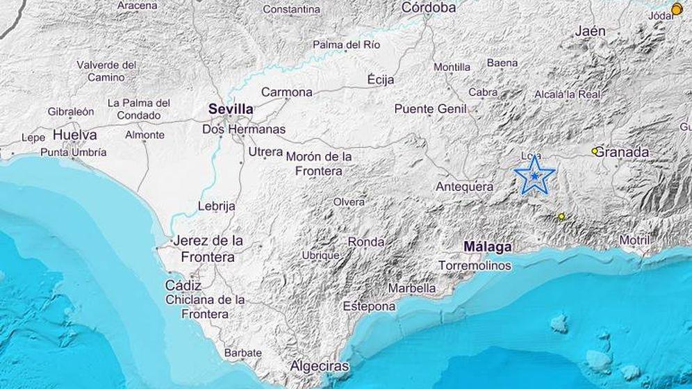 Foto: El epicentro se ha situado a 11 kilómetros de Jódar. (IGN)